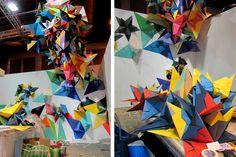Nuria Mora geometric paper installations