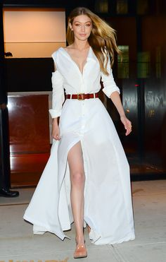 Looking Angelic! Gigi Hadid Spends a Day in All White Ahead of Victoria's Secret Fashion Show