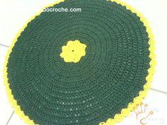 Tapete Sweet Home Redondo de Crochê em Barbante - Receita de Croche