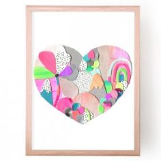 Candy Land Heart Art Print by Laura Blythman - buy online at everythingbegins.com