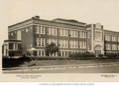 Pipkin Junior High School :: Historic Postcards of Springfield, Missouri Missouri State University, Springfield Missouri, High School, History, Building, Places, Travel, Life, Postcards