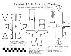 European tunic patterns