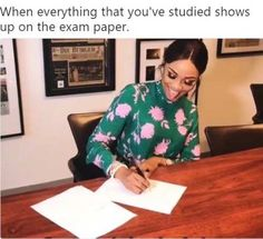When Everything That You've Studied Shows Up On The Exam Paper #funny #meme