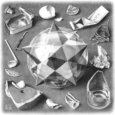 Contrast ,Order and Chaos   by M.C. Escher- 1950