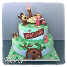 masha and the bear cake