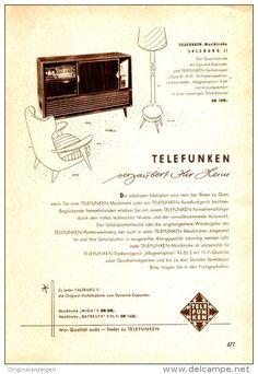 Original-Werbung/ Anzeige 1957 - TELEFUNKEN MUSIKTRUHE SALBURG II - ca. 130 x 180 mm
