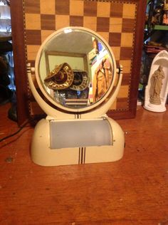 SOLD VINTAGE lighted 1940's vanity/makeup mirror