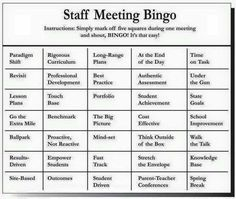 The Official Faculty Meeting Bingo Card  Faculty Meetings Met