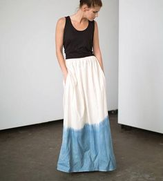 Shoreline Indigo Maxi Skirt by Temperate Clothing on Scoutmob Shoppe