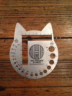 Cat Head Needle Gauge by hillvintageandknits on Etsy