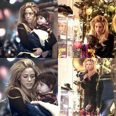 Shakira e Milan num shopping em Barcelona (14/12/2013)  Shakira and Milan in a shopping in Barcelona (12/14/2013)  Shakira y Milan en un shopping de Barcelona (14/12/2013) #shakirabrasil #shakira #milan