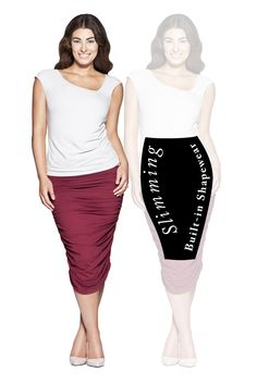 The Tina Skirt with SSSlip technology that Smooths, Shapes and Slims. Shop now at patriciaotoole. Classic Outfits, Shapewear, Shop Now, Slim, Shapes, Technology, Clothes For Women, Skirts, Shopping