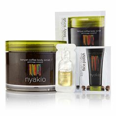 nyakio™ Kenyan Coffee Body Scrub with Sampler