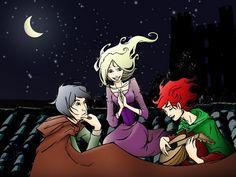 Elodin, Auri and Kvothe