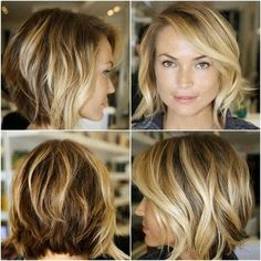 Hottest Bob Haircuts for Fine Hair, Long and Short Bob Hairstyles Cute Short Haircuts For Women Messy Bob Hairstyles, Cute Short Haircuts, Layered Hairstyles, Bob Haircuts, Medium Haircuts, Trendy Hairstyles, Hairstyles 2016, Celebrity Hairstyles, Wedding Hairstyles