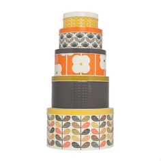 Orla Kiely cake tins. Imagine all the baking you'd have to do...