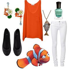 Modern Disney Character Outfits Polyvore | Dress Like Finding Nemo Characters
