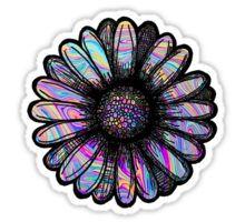 Rainbow Swirl Flower Sticker