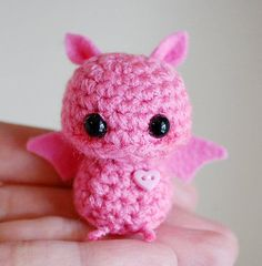 Little Pink Bat! Annabelle asked me to crochet it for her so I'm going to look for a pattern !