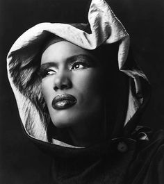 Grace Jones (1948) - Jamaican singer, songwriter, model, record producer, actress. Photo by Greg Gorman, c1986