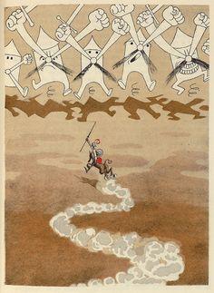 Albert Dubout for L'Ingenieux Hidalgo Don Quichotte de la Manche (1938)