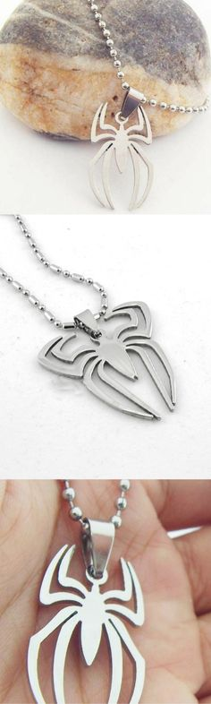 Marvel Spiderman Stainless Steel Necklace! Click The Image To Buy It Now or Tag Someone You Want To Buy This For.  #Spiderman