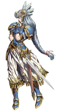 ✧ #characterconcepts ✧ Lenneth from Valkyrie Profile