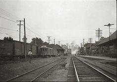 Postcard Photo Erie Railway Cambridge Springs PA Station Railroad Train | eBay
