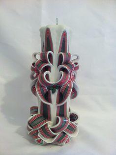 Holidaycandle#christmascandlecarvedcandle#candle