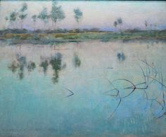 Willard Metcalf - Reflections, Grez-sur-Loing, 1886