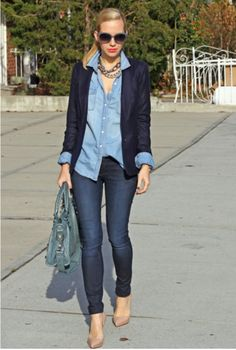 chambray with jeans