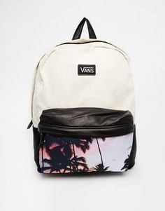 Buy Vans Deana Backpack with Palm Tree Photo Print at ASOS. Get the latest trends with ASOS now. White Backpack, Backpack Purse, Mini Backpack, Mochila Jansport, Jansport Backpack, Cute Backpacks, School Backpacks, Leather Backpacks, Leather Bags