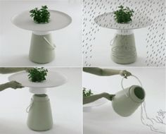 The 'Garden Table' collects rain water in style
