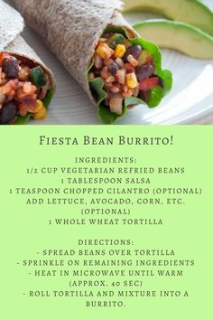 Hello, #TastyTuesday! Whip up this delicious and nutritious burrito in under a minute. #EatWell #BeWellUNI