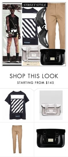 """""""Street style"""" by leathersatchel ❤ liked on Polyvore featuring Off-White, The Leather Satchel Co., Paul Smith, Cole Haan, men's fashion and menswear"""