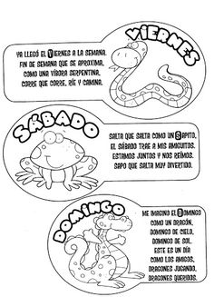 Days of the week in spanish - free coloring pages   Coloring Pages