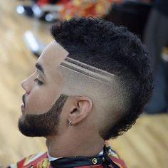 Do not just grow a short beard, rather use it to enhance your personality and manly look. Here are 70 most popular and trendy short beard styles you can try. Black Men Haircuts, Black Men Hairstyles, Mohawk Hairstyles, Cool Haircuts, Guys Haircuts Fade, Greaser Hairstyle, Mullet Hairstyle, Men's Haircuts, Short Beard