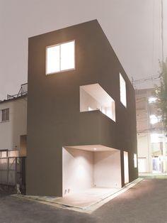 Saved by dmciv on Designspiration. Discover more Shimouma House Kazuya Saito Architects inspiration. Minimalist House Design, Minimalist Architecture, Space Architecture, Japanese Architecture, Minimalist Home, Amazing Architecture, Mini Loft, Interior Minimalista, Narrow House