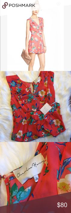 Charles Henry NWT Floral Print Ruffle Romper NWT and perfect for the spring/summer. So cute for any occasion. All sales final Charles Henry Pants Jumpsuits & Rompers