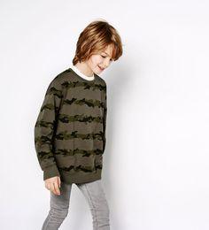 Camouflage sweatshirt-SWEATSHIRTS-BOY | 4-14 years-KIDS | ZARA United States
