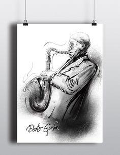 Dexter Gordon and John Coltrane Sketches on Behance Begoña Fumero