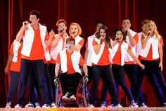 Jenna Ushkowitz Cory Monteith Photos Photos - (L-R) Actors/singers Amber Riley, Cory Monteith, Chris Colfer, Kevin McHale, Dianna Agron, Harry Shum Jr., Lea Michele, Jenna Ushkowitz, Mark Salling, Chord Overstreet and Heather Morris perform at Glee Live! at the Staples Center on May 28, 2011 in Los Angeles, California. - Glee Live! In Concert! At The Staples Center
