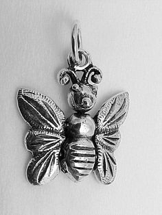 Sterling Silver Butterfly Charm with movable wings