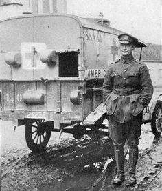 Model T Ford Ambulance of the American Field Service, Somme & Verdun… Ford Ambulance, World War One, First World, Vintage Cars, Retro Vintage, Emergency Vehicles, European History, Red Cross, War Machine