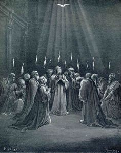 The Descent Of The Spirit - Gustave Dore - WikiArt.