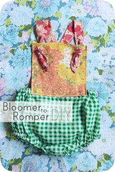 Easy Summer Outfit - Bloomers to Romper DIY