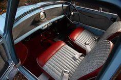 1959 Austin Mini interior.