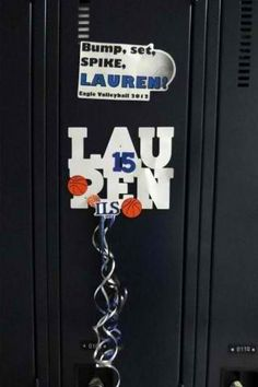basketball locker decorations | ... and i helped out by making a banner basketballs and locker decorations