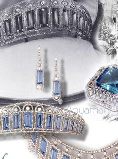 Empress Alexandra Fyodorovna Imperial #Aquamarine Empress Alexandra, had the largest personal jewel collection in the world the story behind the aquamarine http://www.royal-magazin.de/russia/alexandra-romanov-aquamarine.htm
