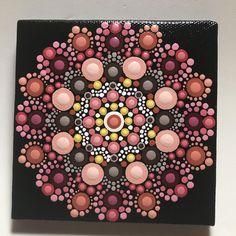 Hand Painted Mandala on Canvas, Meditation Mandala, Dot Art Mandala, Calming, Healing, #566 by MafaStones on Etsy